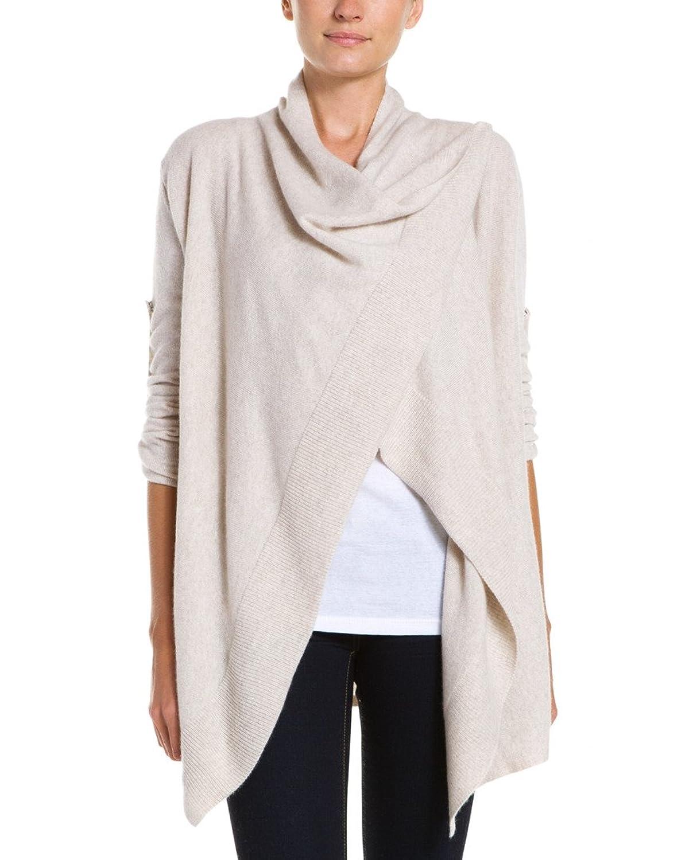 Sofiacashmere Cashmere Asymmetrical Wrap Cardigan