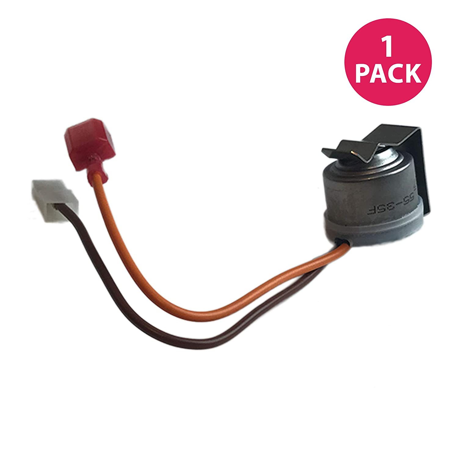 Think Crucial Replacement for Whirlpool Defrost Thermostat Fits Kenmore, Maytag, Sears & Roper Refrigerators, Compatible with Part 10442411, 10442401, 4344231, 8170725, C8898601, C8978401