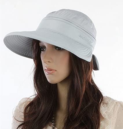 Amazon.com   Women Wide Brim 2in1 Combined Golf and Tennis Sun Cap ... 15d30e1f09c