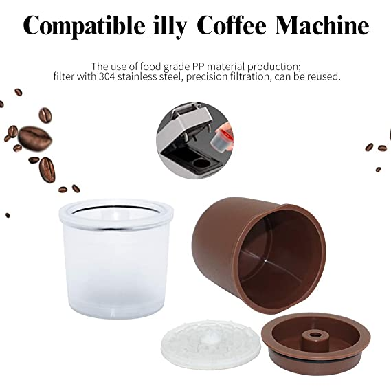 Konesky Cápsulas de Café Reutilizable, 3 piezas Cafetera ...