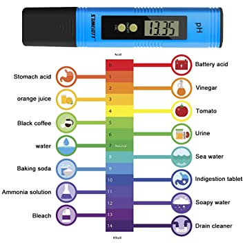 sumgott Calidad del Agua Medidor de Prueba PH Medidor TDS PH CE Temperatura 4 en 1 Set