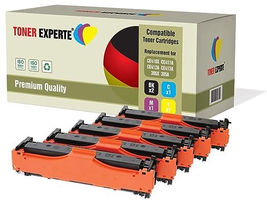 7 opinioni per Kit 5 TONER EXPERTE® 305X CE410X CE411A CE412A CE413A 305A Toner compatibili per