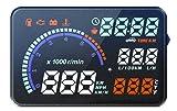 HUDネオトーキョー 車 ヘッドアップディスプレイ HUD 5.5インチ スピードメーター 水温計 タコメーター 時計 燃費 表示 OBD2 日本語説明書