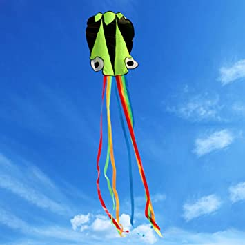 Kites & Accessories 4m Single Line Stunt Red Octopus Power Sport Flying Kite Outdoor Activity Toy Outdoor Fun & Sports