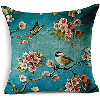 Amazon Com Decorpillows Japanese Cherry Blossom Pillow