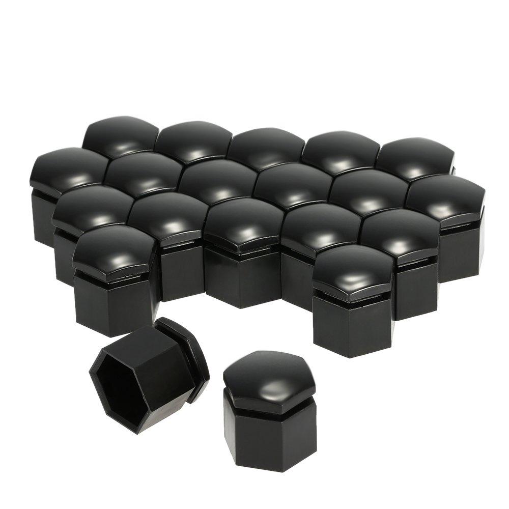 Leslaur 20pcs 19mm Noir Bouchon de Boulon de Couvercle /écrou de Roue de Voiture adapt/é pour Opel Opel