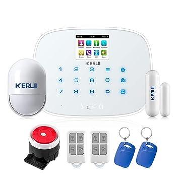 KERUI – 2018 Nueva llegada W193 WiFi 3 G GSM WCDMA SIM PSTN RFID inalámbrico inteligente