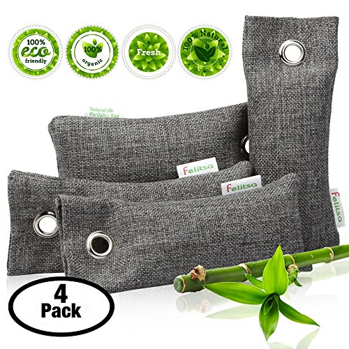 Natural Air Purifying Bags And Odor Remover Activated