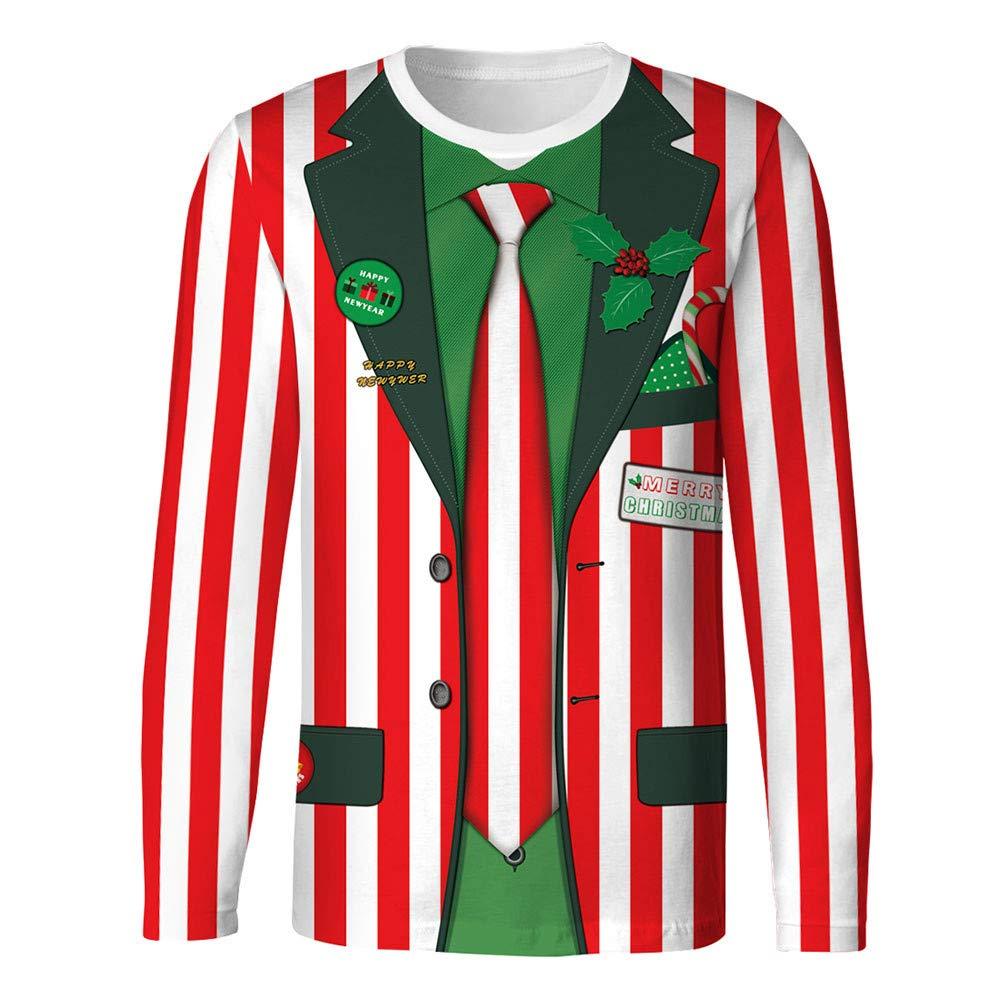 Sinzelimin Tuxedo Funny Men's T-Shirt Christmas Sweatshirts 3D Printed