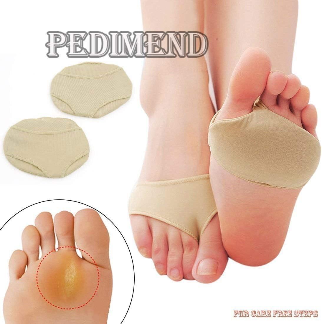 Plantilla ortopédica de cuerpo entero Soporte for el antepié metatarsiano antideslizante (1 par) - Almohadillas de tela con almohadillas de gel for los pies - Almohadillas de neuroma de Morton - Dolor