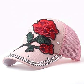 HANOB Sombrero Gorras Gorra De Béisbol Rosa Gorra De Mujer ...