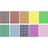 Lot gommettes autocollantes 1180 rondes couleurs mix 1cm carte scrapbooking