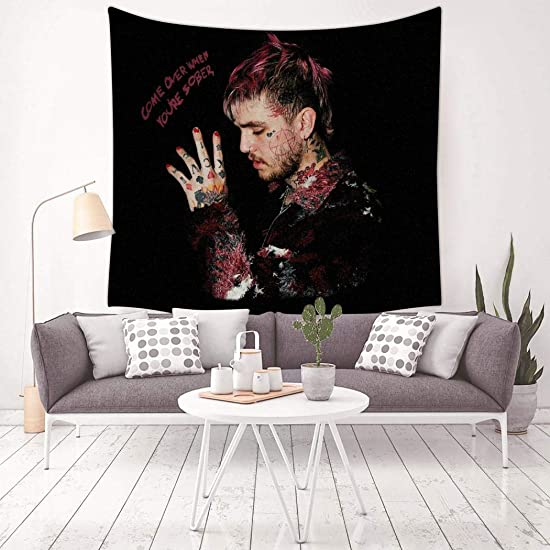 YAOAO Lil Peep Tapestry Wall Hanging for Living Room Decor 59.1 x 59.1 Inch