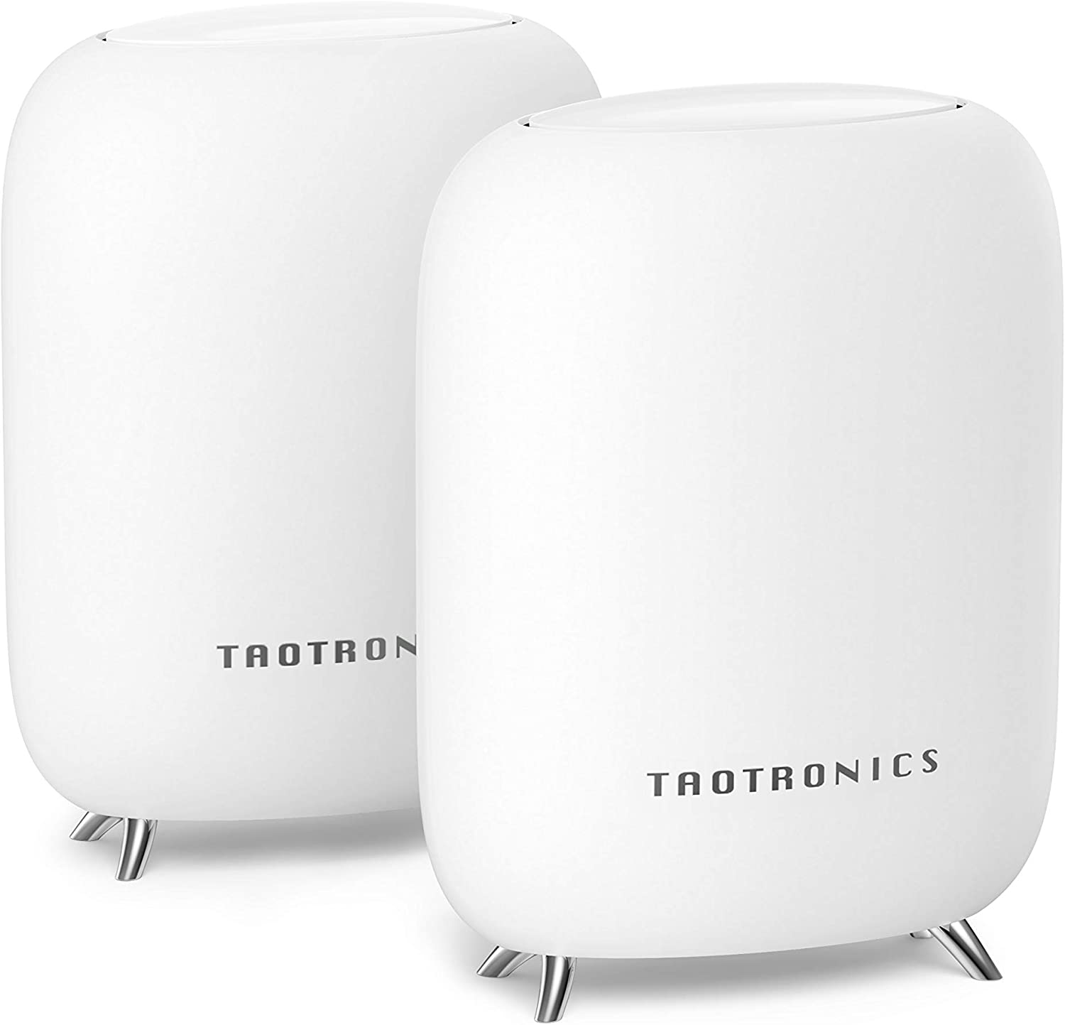 TaoTronics Mesh WiFi System, Tri-Band AC3000 3Gbps Speed 5,000 Sq. Ft Coverage Whole Home WiFi Router/Extender Replacement, 4 Gigabit Ethernet & 1 USB 3.0 Ports, Connection of up to 200 Devices-2 Pack