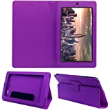 Acm Executive Flip Case For Micromax Canvas Tab P290 Tablet Front & Back Cover Stand Purple
