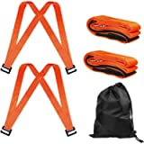 Furniture Moving Straps, 2 Person Shoulder Moving Belts, Carrying Straps for Easily Moving,Lifting and Carrying(Orange)