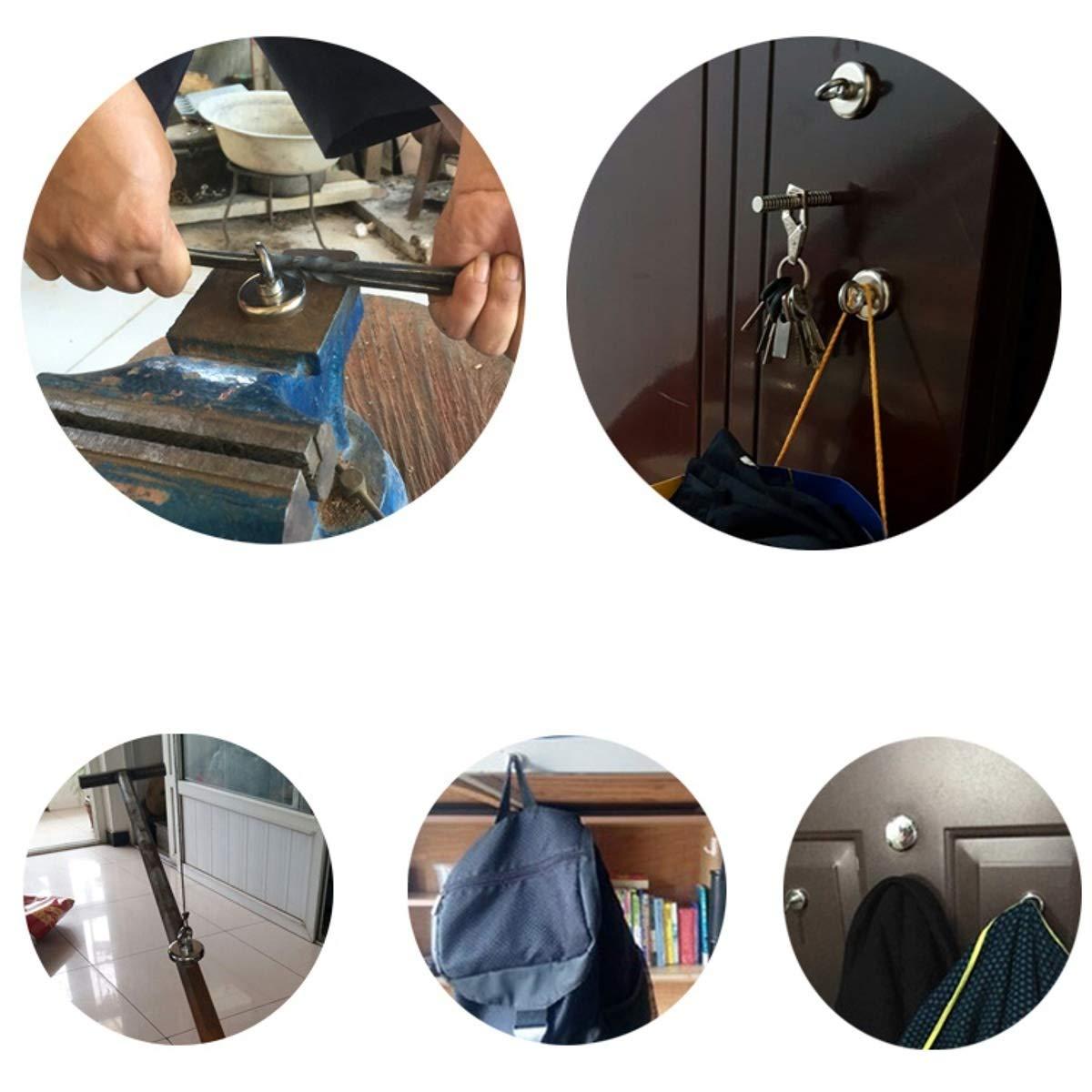 Amazon.com: LIShuai Strong N52 Neodymium Detector Eyebolt Ring Magnet D42x40mm Salvage Hunting: Home & Kitchen