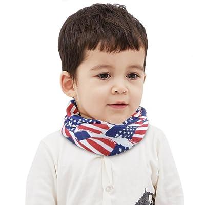 Écharpe Tube Enfant Hiver Écharpe Enfant en Coton Tour de Cou Enfant Fille Garçon Écharpe Enfant BéBé Châle Mignon pour Automne Hiver Printemps