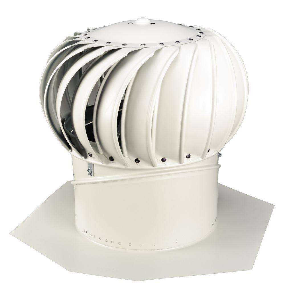 Whirlybird 12 in. White Aluminum Internally Braced Wind Turbine