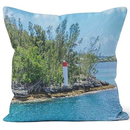 Amazon Com Nine City Red And White Beacon On Bermuda Home