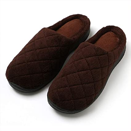 164a65586f81a Amazon.com: XTMA Men's Comfort Quilted Memory Cotton Slippers ...