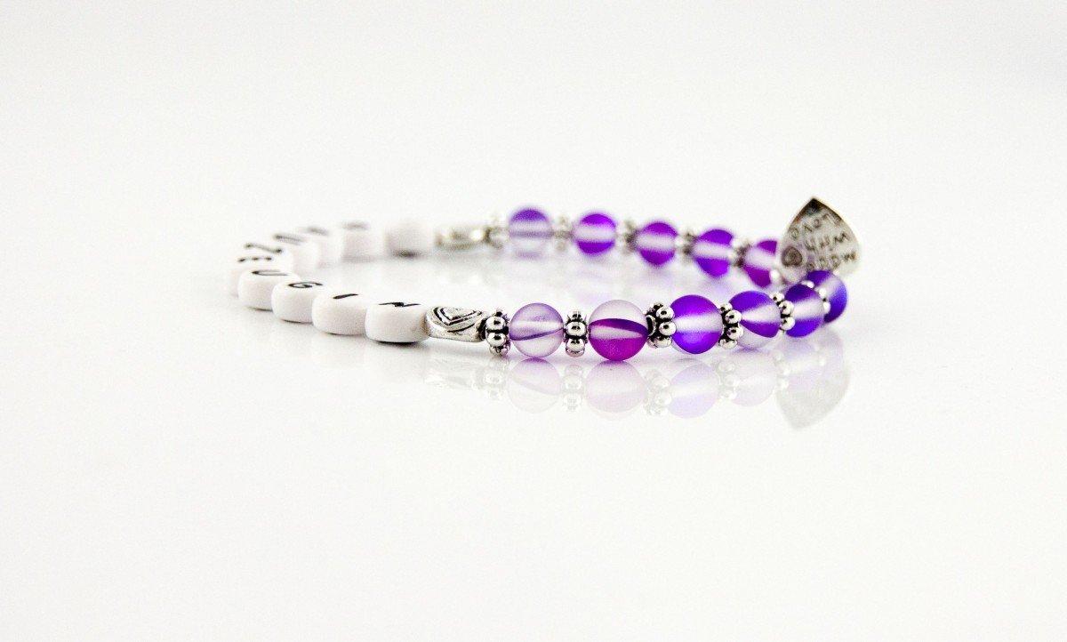 unzerbrechlich Glasperlenarmkettchen Glasperlenarmband Armkette Trauzeugin