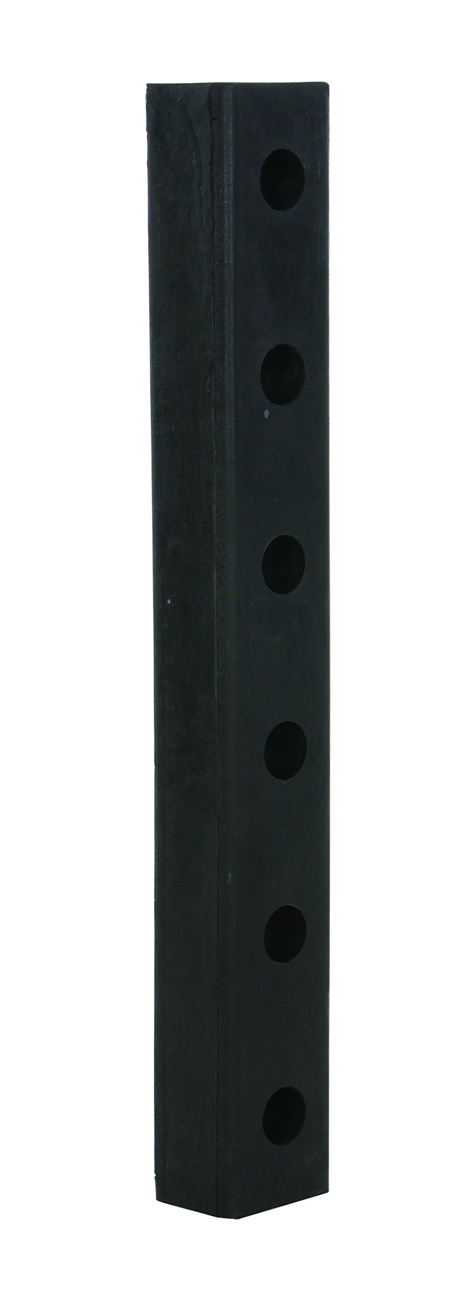 Vestil DBE-30-1 Rubber Hardened Molded Bumper, Rectangular, Vertical Mount, 30'' Length, 4-1/2'' Width, 3'' Depth