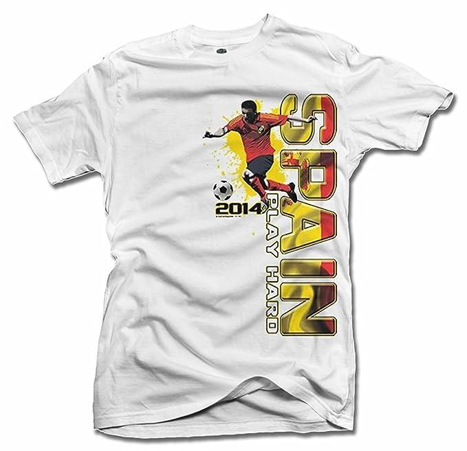 España jugar futbol duro moda (fútbol) camiseta de hombre Tee (6.1oz)