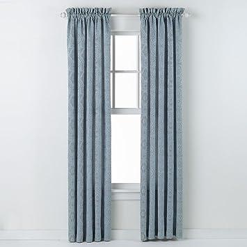 Amazon.com: HLC.ME Portofino Blue Jacquard Curtain Panels - 54