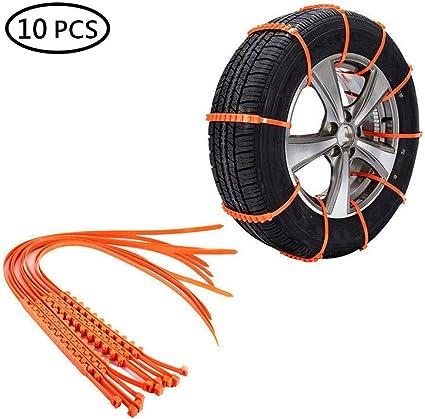 10 chaînes de pneus neige chaînes antidérapantes pour voiture camion suv