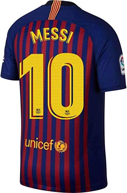 Amazon.com : NIKE Barcelona Home Messi 10 Jersey 2018/2019 ...