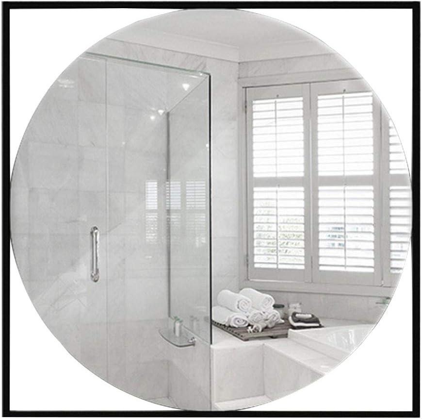 15.7-31.5 Pulgadas Cuadrado Creativo Hollow Pared de Espejo Espejo de Baño Panel de Vidrio Negro Marco de Metal Espejo Moderno Decoración del Hogar: Amazon.es: Hogar