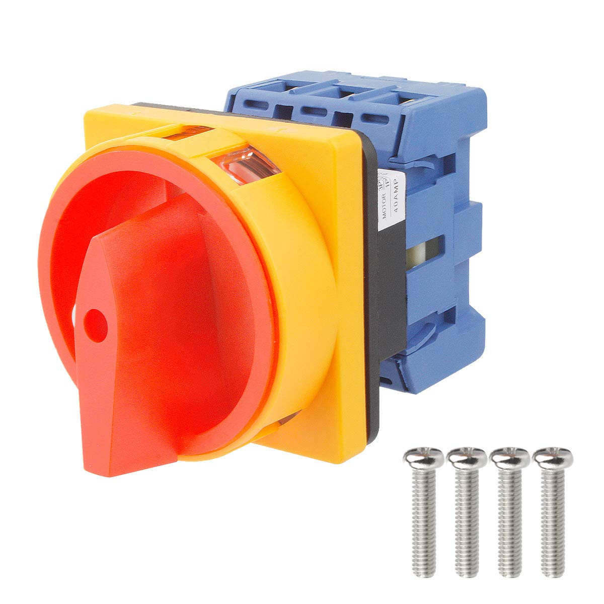 Electrical Buddy Universal Switch 2 Position 3 Phase Panel Rotary Selector Changeover Switch GLD11 40A AC 690V 40A