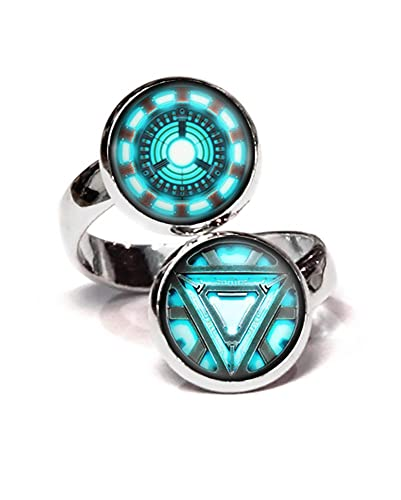 Amazon arc reactor ring iron man ironman jewelry the avengers arc reactor ring iron man ironman jewelry the avengers jewelry shield pendant aloadofball Image collections