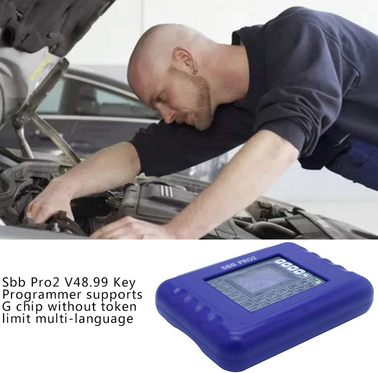 Unitedheart Sbb Pro2 V48.99 Key Programmer Supports G Chip Without Token Limit Multi-Language,Sbb Pro2 Progarmmer Tool Updated to V48.99 Sbb Pro2 Main Unit