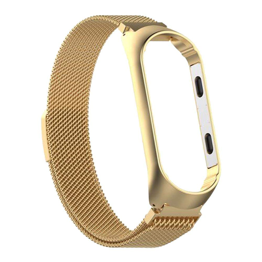 Amazon.com: Besde Fashion [Milanese Magnetic] Stainless Steel Sport Strap + Metal Case + HD Film Replacement Bands for Xiaomi Mi Band 3: Watches