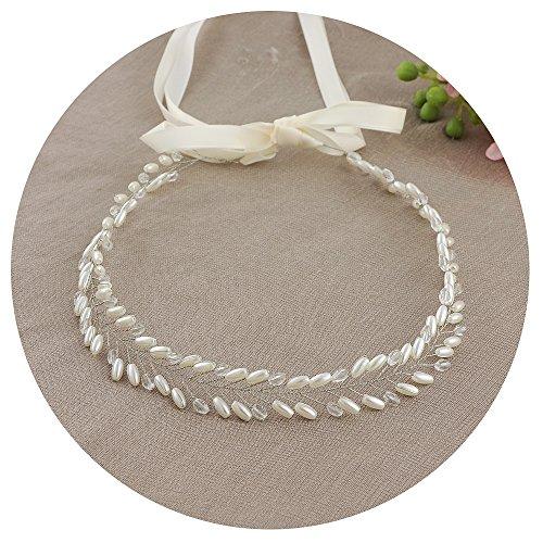 Cristaux Ulapan Perles Écharpe De Ceinture De Robe De Mariée Diamants Ceinture De Ceinture De Mariée, Sh46-s Blanc