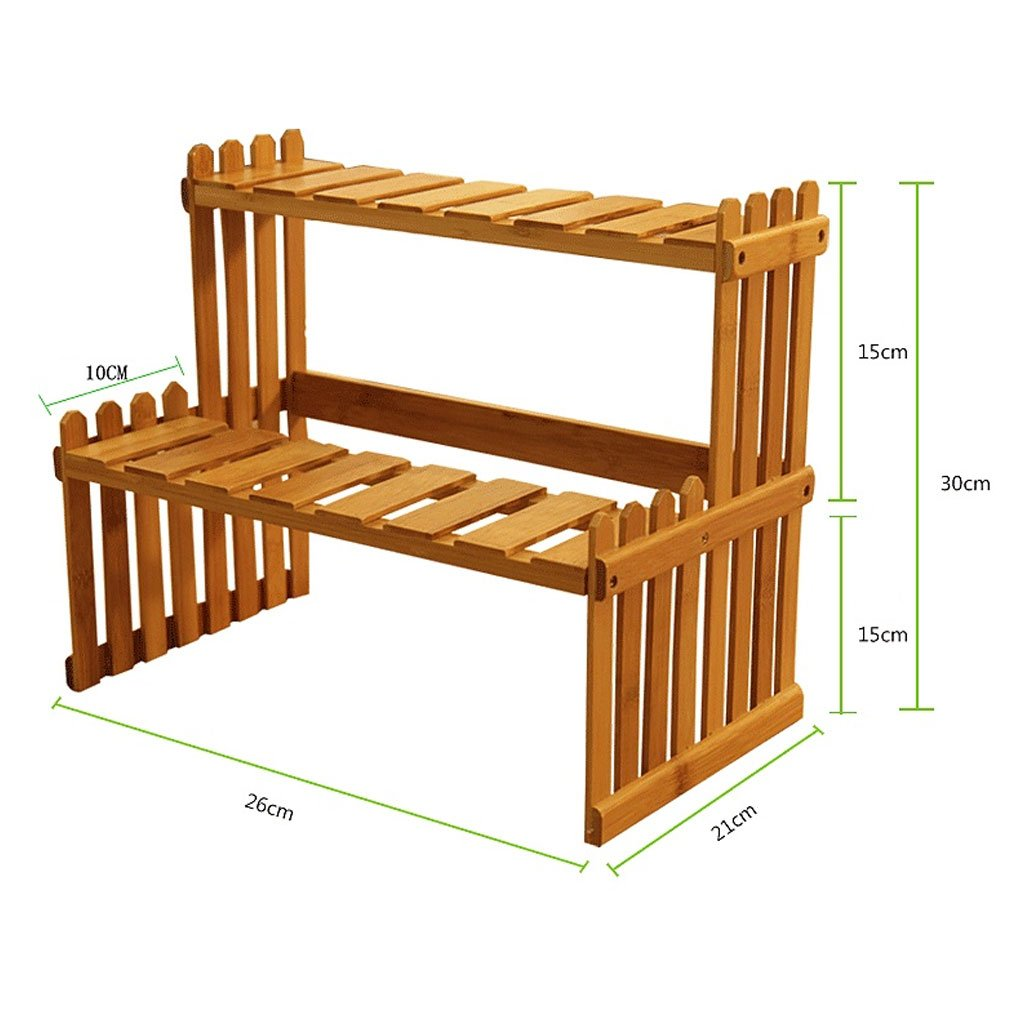 Solid Wood Flower Stand Suitable For Living Room Balcony Computer Desk | 3 Size (Size : 262130cm) by TY BEI (Image #2)