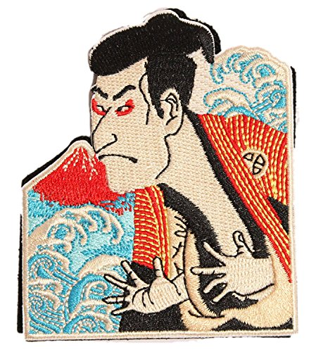 100/% Embroidery Verclo Patches Hannya Kabuki A0028 Japan Import