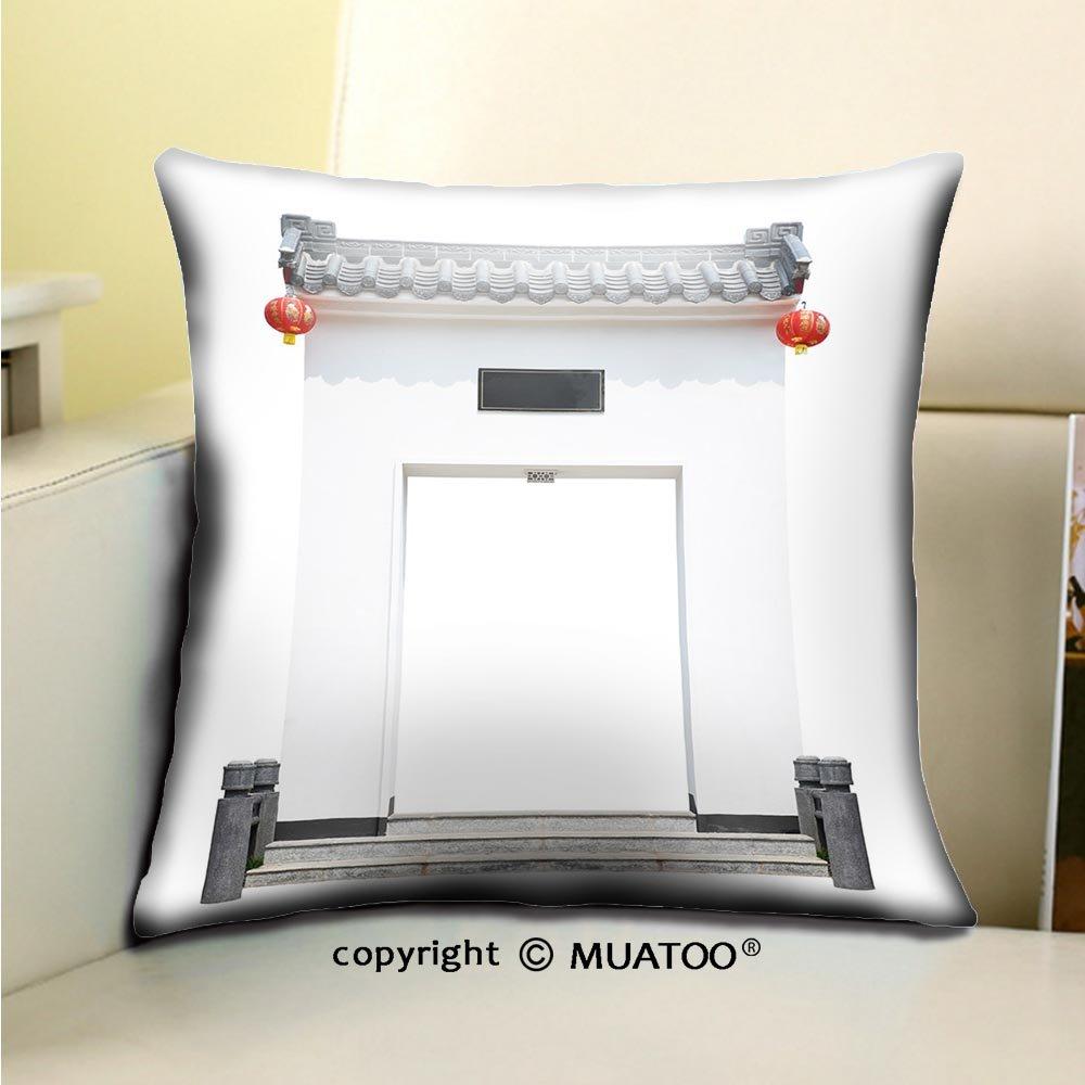 pleayelソフトキャンバススロー枕カバーケースソファソファ 16 x 16 Inches ホワイト B07CL6QMZ9  8 16 x 16 Inches