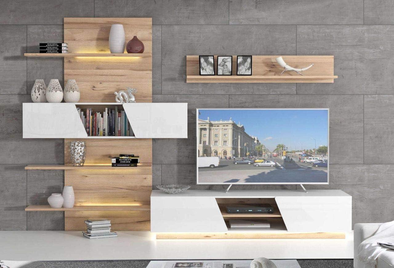 Forte Mobel Wohnzimmerschrank Hulon Moderne Wohnwand Optik