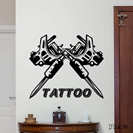 yaoxingfu Tattoo Studio Sign Tatuajes de Pared Vinilo Art ...