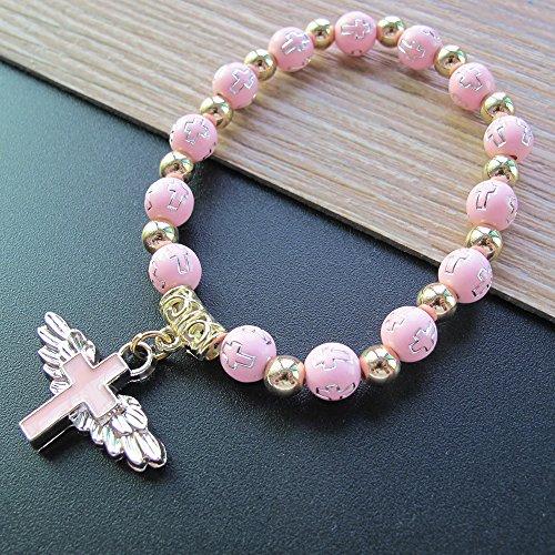 12 Pcs Angel Wing Cross Bracelet Favor for