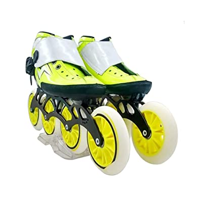 Sljj Speed Skating Shoes 4120MM Adjustable Inline Skates, Straight Skating Shoes (3 Colors) (Color : Yellow, Size : EU 44/US 11/UK 10/JP 27cm): Home & Kitchen
