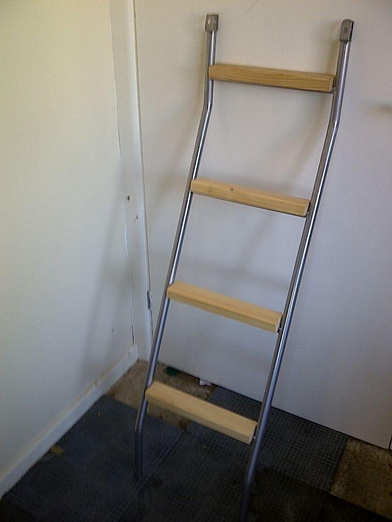Strictlybedsandbunks Metal Bunk Bed Ladder Pine Ladder Steps Amazon Co Uk Kitchen Home