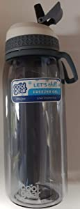 Cool Gear 32 fl.oz Water Bottle with Freezer Gel, Colors Will Vary