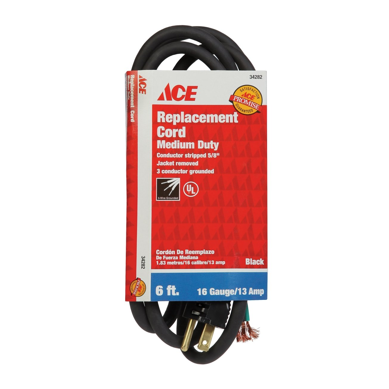 9 Ft 9-Foot Coleman Cable Woods 2864 SJTW 3-Outlet Power Tap Extension Cord 16//3
