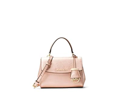 2b9e9e27446f MICHAEL Michael Kors Ava Extra Small Saffiano Metallic Leather Crossbody Bag  - Ballet