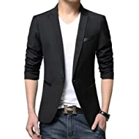 Benibos Men's Casual 1 Button Slim Fit Blazer Jacket
