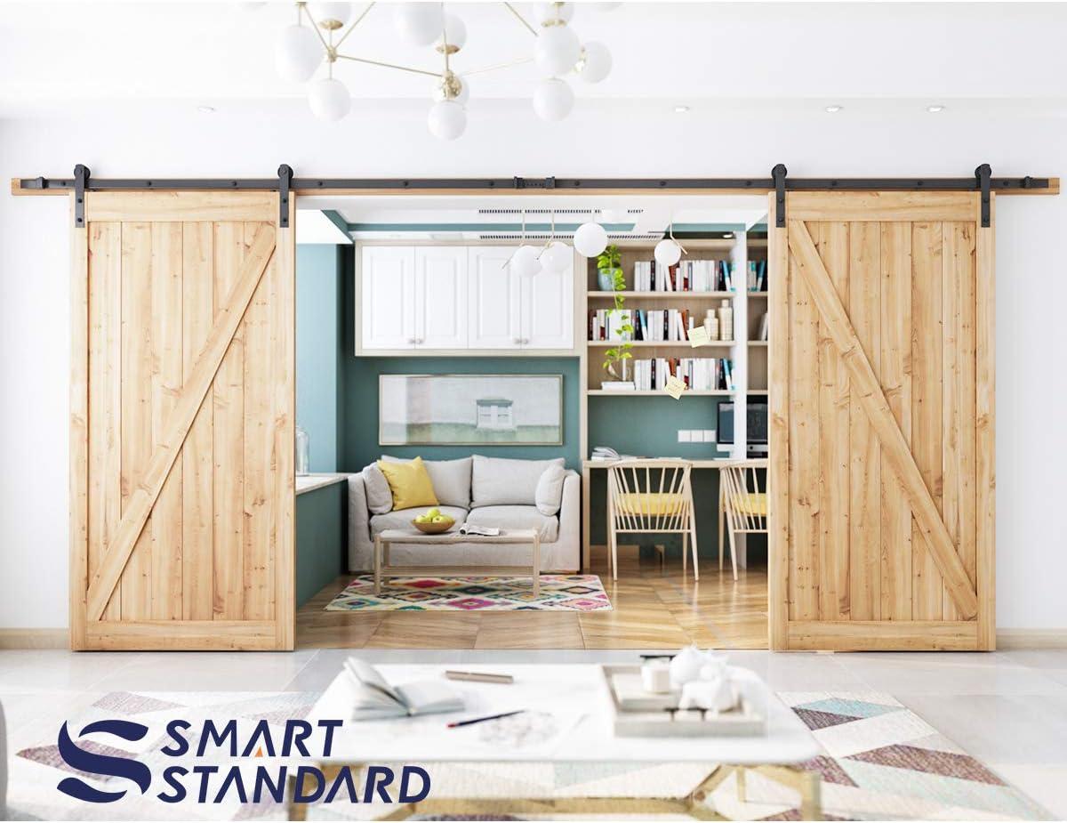 SMARTSTANDARD - Perchas para puerta corredera en forma de I (negro ...